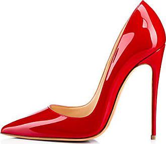 0f65c4a23884f9 Onlymaker Damen Pumps Spitze Schuhe High-Heels Stiletto Mehrfarbig Hochzeit  Party Ballsaal Rutsch Rot EU41