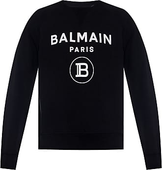 Balmain Sweatshirt With Logo Mens Black