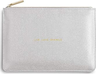 Katie Loxton Perfect Pouch - Live Love Sparkle, Shiny Silver, One