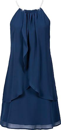 Bodyflirt Dam Chiffongklänning med halsband i blå utan ärm - BODYFLIRT a68bbe53f7356