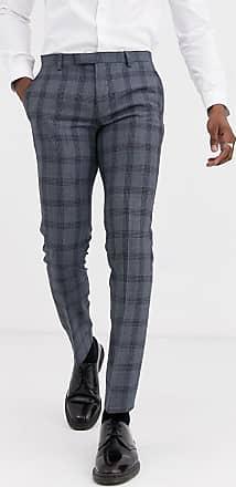 Twisted Tailor Pantaloni da abito super skinny blu a quadri
