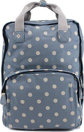 Your Dezire YDezire Ladies Backpack Rucksack School College Shoulder Laptop Bag Womens (Polka/Blue)