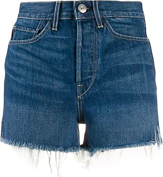 3x1 Kenzie denim high waisted shorts - Blue