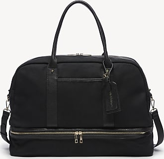 Sole Society Womens Mason Weekender Vegan Leather In Color: Black Canvas Bag From Sole Society