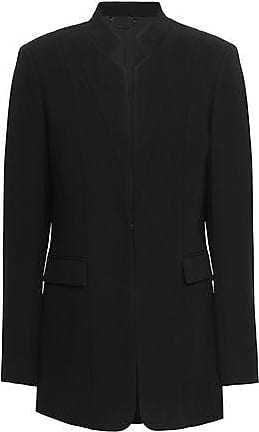 Elie Tahari Elie Tahari Woman Safina Crepe Blazer Black Size 2