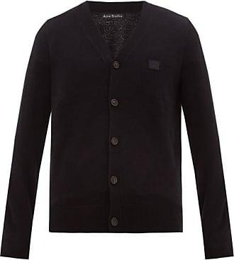 Acne Studios Keve Logo-embroidered Wool Cardigan - Mens - Black