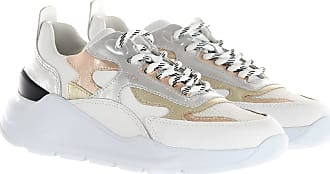 D.A.T.E. Sneakers fuga laminated in mesh e pelle bianco argento 38