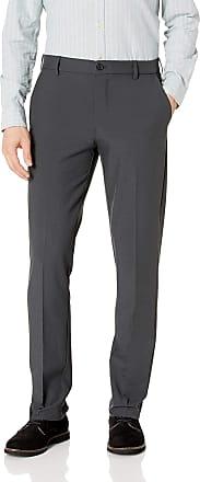 Van Heusen Mens Flex 3 Dress Pant, Charcoal, 34W x 30L