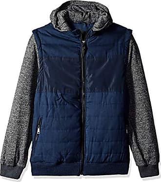 Urban Republic Mens Light Wool/Satin Jackets, Blue, L