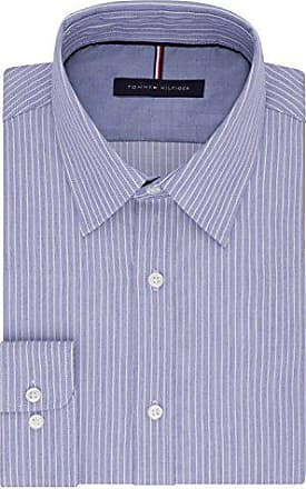 2035253fc Tommy Hilfiger Mens Big and Tall Long Sleeve Button Down Shirt, Navy, 18  Neck