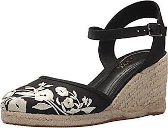 531ceee55fc1 Ralph Lauren Lauren Ralph Lauren Womens Hayleigh Espadrille Wedge Sandal  Black 9.5 B US