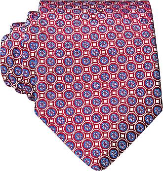 Eton Krawatte - DUNKELROT/ ROSA/ BLAU