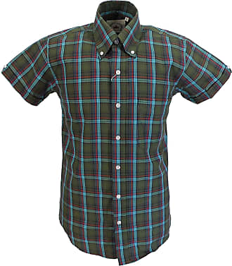 Relco Mens Checked Shirts (XX Large, Green)