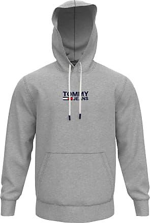 Medium Uomo Grey P Tommy Hilfiger Tjm Straight Small Logo Hoodie Felpa Sportiva Grigio