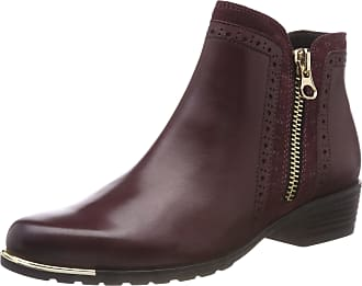 Caprice Womens 9-9-25403-21 Ankle Boots, Red (Bordeaux Comb 551), 5.5 UK