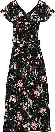 Rebecca Taylor Rebecca Taylor Woman Floral-print Cotton-poplin Midi Dress Black Size 10