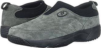 Propét Propet Mens Wash N Wear Slip On Suede Walking Shoe, sr Pewter, 9.5 5E US