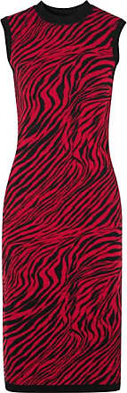 McQ by Alexander McQueen Zebra-print Cotton Midi Dress - Red