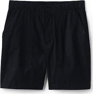 Lands End Shorts im Leinenmix mit Stretch in großen Größen - Schwarz - 50 von Lands End