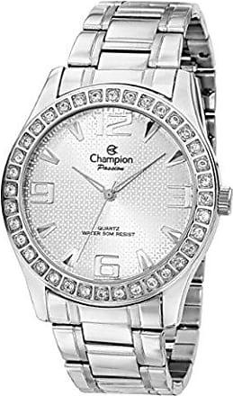 Champion Relógio Feminino Champion Passion Prata Strass CH24704Q