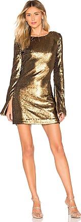 NBD Smyth Dress in Metallic Bronze