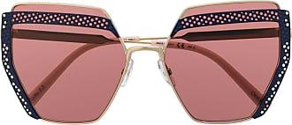 Oxydo Óculos de sol oversized com acabamento de renda - Rosa