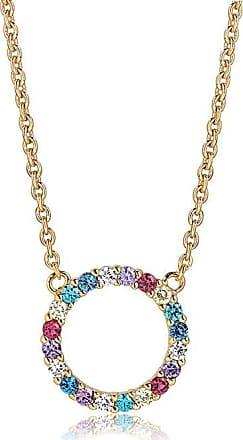 Sif Jakobs Jewellery Halskette Biella Grande -18K vergoldet mit bunten Zirkonia