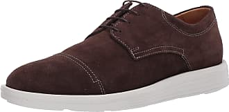 Driver Club USA Mens Leather Made in Brazil EVA Lightweight Oxford with Captoe Detail, Brown Suede/Contrast Stitch/White Sole, 10.5