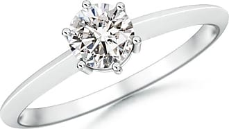 Angara Valentine Day Sale - Prong-Set Diamond Solitaire Engagement Ring