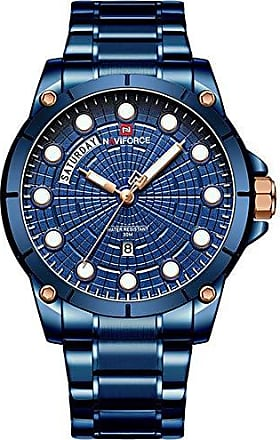 NAVIFORCE Relógio Masculino Naviforce NF9152 BEBE Pulseira em Aço - Azul