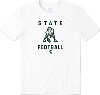 dcaa3b499f9 Life is good Mens Michigan State Athlete Jake Cool Tee XXL Cloud White