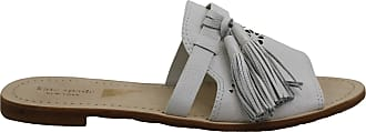 Kate Spade New York New York Womens Claire Fabric Open Toe Casual Slide, White, Size 7.5 US / 5.5 UK US