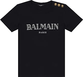 Balmain Logo-printed T-shirt Womens Black
