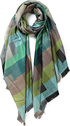 Your Dezire Cool Grids Patterned Printed Scarf Large Shawl Winter Scarf Celebrity Style Wraps (Green)