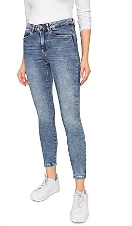 Vero Moda Calça Jeans Vero Moda Skinny Cropped Estonada Azul