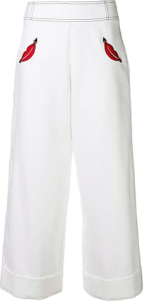 Vivetta cropped palazzo trousers - White