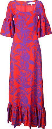 Borgo De Nor Vestido floral de seda - Vermelho