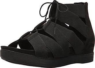 Eileen Fisher Womens Link-st Flat Sandal, Black, 6.5 M US