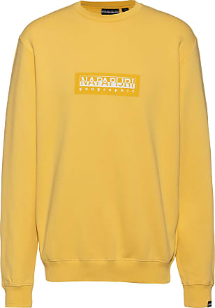 Napapijri Box C Sweatshirt Herren in yellow sunshine, Größe XL