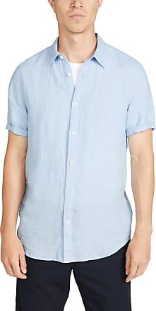 Theory Mens Irving Spur Linen Short Sleeve Shirt