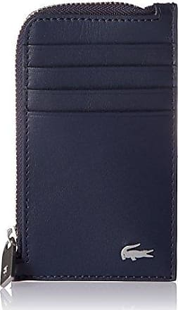 c45933a681 Lacoste Mens Fitzgerald Leather Card Holder, Peacoat, One Size