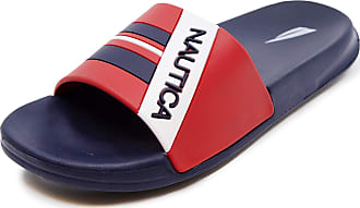 Nautica Womens Athletic Slides, Sandals, Shower Shoe, Fashion Slide-Addey-Red White Blue-7