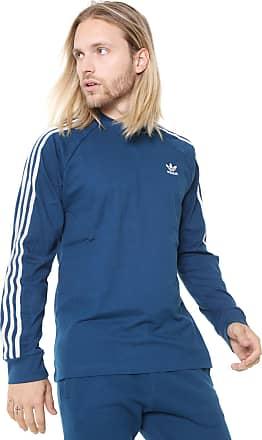 23a6757d9 adidas Originals Camiseta adidas Originals 3 Stripes Ls Azul