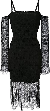 Dion Lee shirred lace dress - Black