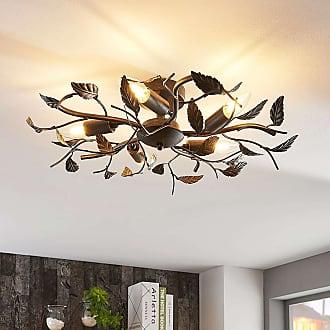 Lindby Decorativa lámpara de techo Yos, diseño de hojas