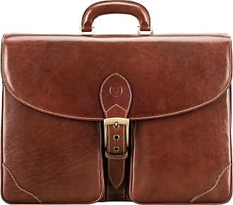 Maxwell Scott Maxwell Scott - Luxury Luxury Tan Leather Mens Business Briefcase