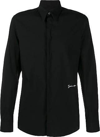 Givenchy Camisa com logo contrastante - Preto