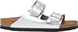 Birkenstock Sandália Arizona Metallic Silver - Prata