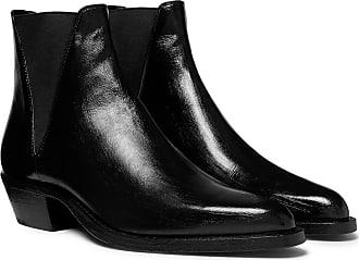 Saint Laurent Dakota Polished-leather Chelsea Boots - Black
