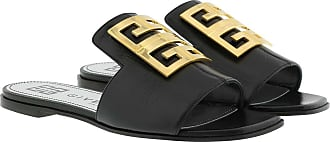 Givenchy Sandals - 4G Sandals Grained Leather Black - black - Sandals for ladies